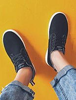 Недорогие -Муж. обувь Ткань Весна Осень Удобная обувь Кеды для Повседневные Белый Черный Красный