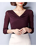 cheap -Women's Basic T-shirt V Neck
