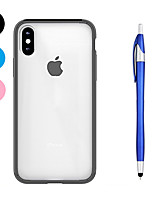 abordables -Coque Pour Apple iPhone X iPhone 8 Plus Antichoc Transparente Coque Couleur unie Flexible TPU pour iPhone X iPhone 8 Plus iPhone 8 iPhone