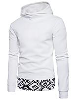 cheap -Men's Slim Hoodie - Solid Geometric Hooded