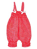 cheap -Baby Girls' Daily Holiday Polka Dot One-Pieces, Cotton Summer Cute Sleeveless Red