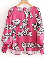 cheap -Women's Holiday Basic Loose Blouse - Floral, Print