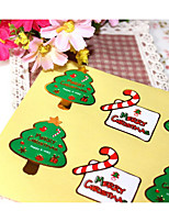 cheap -Holiday Stickers, Labels & Tags - 8 Christmas Irregular Stickers All Seasons