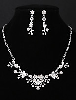 cheap -Women's Rhinestone Jewelry Set 1 Necklace Earrings - Fashion European Flower Jewelry Set For Wedding Daily