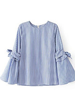 baratos -Mulheres Blusa Vintage Listrado