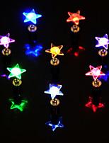 Недорогие -4шт Звезда Серьги для ушей Батарея с батарейкой Меняет цвета