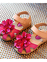 cheap -Girls' Shoes PVC Leather Spring Fall First Walkers Comfort Sandals for Casual White Red Pink