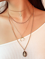 cheap -Women's Multi Layer Pendant Necklace - Vintage Multi Layer Fashion Cross Necklace For Party / Evening Engagement Daily Prom