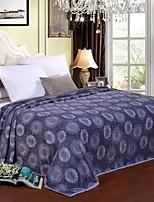 cheap -Coral fleece, Jacquard Floral Geometric Polyester/Polyamide Blankets