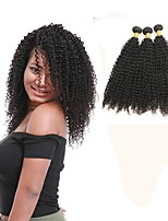 cheap -Indian Kinky Curly Human Hair Weaves 3pcs 0.3