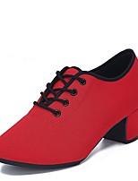 """cheap -Women's Modern Tulle Oxford Heel Indoor Low Heel Black Red 1"""" - 1 3/4"""" Customizable"""