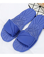 cheap -Women's Unisex Shoes EVA Spring Summer Comfort Slippers & Flip-Flops Flat Heel for Casual Black Blue Pink