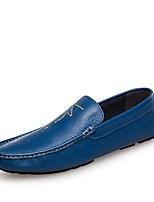 Недорогие -Муж. обувь Кожа Наппа Leather Весна Лето Мокасины Удобная обувь Мокасины и Свитер для Повседневные Офис и карьера Желтый Синий