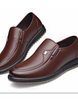 Недорогие -Муж. обувь Кожа Наппа Leather Осень Зима Удобная обувь Мокасины и Свитер для Повседневные Черный Коричневый