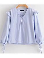cheap -Women's Shirt - Striped V Neck