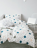 cheap -Duvet Cover Sets Geometric Pattern 3 Piece Poly/Cotton Reactive Print Poly/Cotton 1pc Duvet Cover 1pc Sham 1pc Flat Sheet