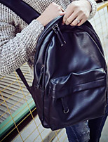 Недорогие -Муж. Мешки Полиуретан рюкзак Молнии для Повседневные на открытом воздухе Все сезоны Черный Темно-коричневый