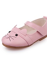 cheap -Girls' Shoes PU Leather Spring Summer Comfort Flats for Casual Dress White Black Pink