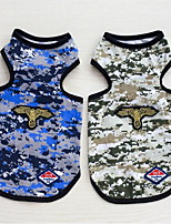 cheap -Dogs Vest Dog Clothes Camouflage Color Classic Green Blue Cotton/Polyester Costume For Pets Sports & Outdoors Camouflage
