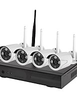 preiswerte -4ch wifi 1080p hd kamera nachtsichtkamera p2p cloud 90 pal / ntsc übertragungsrate 100