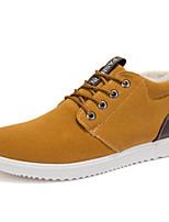 Недорогие -Муж. обувь Нубук Зима Осень Удобная обувь Кеды для Повседневные Черный Желтый Синий
