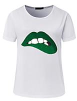 abordables -Tee-shirt Femme,Géométrique Chic de Rue