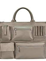 cheap -Women's Bags PVC Tote Briefcase Zipper for Shopping Formal Office & Career All Seasons Silver