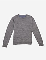 cheap -Men's Simple Long Sleeves Pullover - Solid Color Round Neck