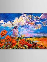 abordables -Peint à la main Abstrait Paysage Format Horizontal, Moderne Toile Peinture à l'huile Hang-peint Décoration d'intérieur Un Panneau