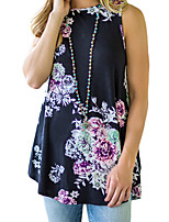 cheap -Women's Active Street chic Loose Tank Top - Floral