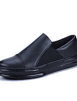 cheap -Men's Shoes PU Spring Fall Comfort Loafers & Slip-Ons for Casual White Black Black/White