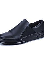 Недорогие -Муж. обувь Полиуретан Весна Осень Удобная обувь Мокасины и Свитер для Повседневные Белый Черный Черно-белый