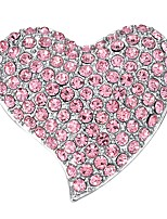 cheap -Women's Brooches AAA Cubic Zirconia Gold Plated Heart Light Pink Bohemian Elegant Jewelry Party Gift Costume Jewelry