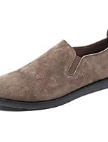 Недорогие -Муж. обувь Искусственное волокно Весна Осень Мокасины Удобная обувь Мокасины и Свитер для Повседневные Черный Серый Хаки