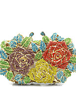 cheap -Women's Bags PU Metal Evening Bag Embroidery for Event/Party All Seasons Green