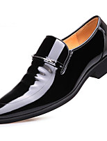 cheap -Men's Shoes Patent Leather Spring Fall Comfort Loafers & Slip-Ons for Casual Black Brown