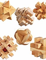 cheap -ULT-unite3D Wooden Cube Wooden Puzzles irregular Focus Toy Stress and Anxiety Relief Wooden Toy Gift