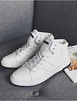 abordables -Homme Chaussures Polyuréthane Printemps Automne Confort Basket pour Décontracté De plein air Blanc Noir Rouge