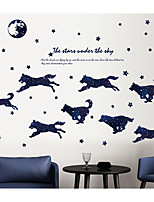 abordables -Abstracto Animales Pegatinas de pared Calcomanías de Aviones para Pared Pegatinas de pared de animales Calcomanías Decorativas de Pared,