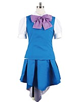 abordables -Inspiré par Macross Frontier Cosplay Manga Costumes de Cosplay Costumes Cosplay Autre Manches Courtes Cache-col Gilet Chemise Jupe Pour
