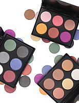 baratos -6pcs Sombra de olho Fofinho / Impermeável / Paleta Combinação / Secos / Normal Sombra para Olhos Pó Grossa Maquiagem Esfumada / Maquiagem