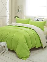 cheap -Duvet Cover Sets Solid 3 Piece Poly/Cotton 100% Cotton Reactive Print Poly/Cotton 100% Cotton 1pc Duvet Cover 1pc Sham 1pc Flat Sheet