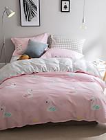 preiswerte -Bettbezug-Sets Blumen 4 Stück Polyester / Baumwolle Reaktivdruck Polyester / Baumwolle 1 Stk. Bettdeckenbezug 2 Stk. Kissenbezüge 1 Stk.