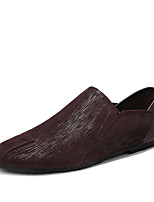 cheap -Men's Shoes Nappa Leather Fall Comfort Loafers & Slip-Ons Black / Brown