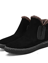 cheap -Men's Shoes Leatherette Winter Snow Boots Boots for Casual Black Brown