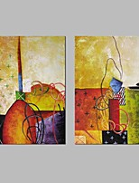 cheap -Hand-Painted Abstract Horizontal Panoramic, Classic Canvas Oil Painting Home Decoration Two Panels