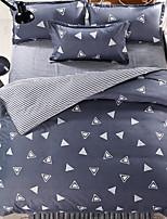 abordables -Ensembles housse de couette Formes Géométriques 4 Pièces Polyester/Coton Polyester Imprimé Polyester/Coton Polyester 1 x Housse de