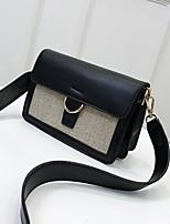 cheap -Women's Bags PU Shoulder Bag Zipper for Casual White / Black / Brown