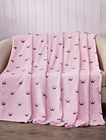 cheap -Coral fleece, Quilted Geometric Cotton/Polyester Polyester Blankets