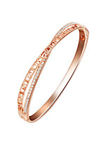 cheap -Women's Gold Plated Bangles - Elegant Circle Gold Bracelet For Party Gift